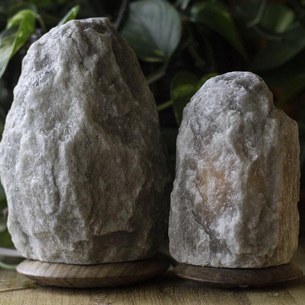 UltraRare Dark Grey Himalayan Salt Lamp - Himalayan Salty Treasures -1742