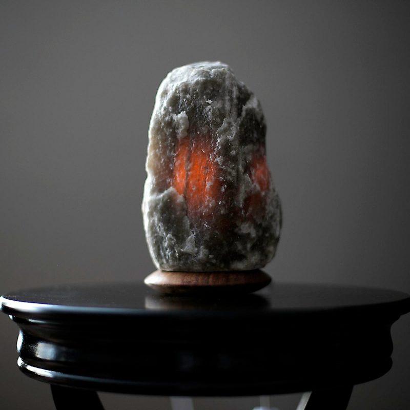 UltraRare Dark Grey Himalayan Salt Lamp - Himalayan Salty Treasures -1743