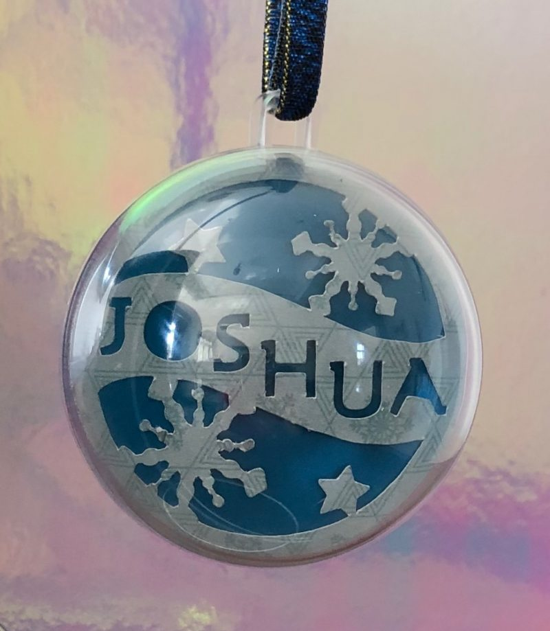 Personalised name plastic baubles-2798