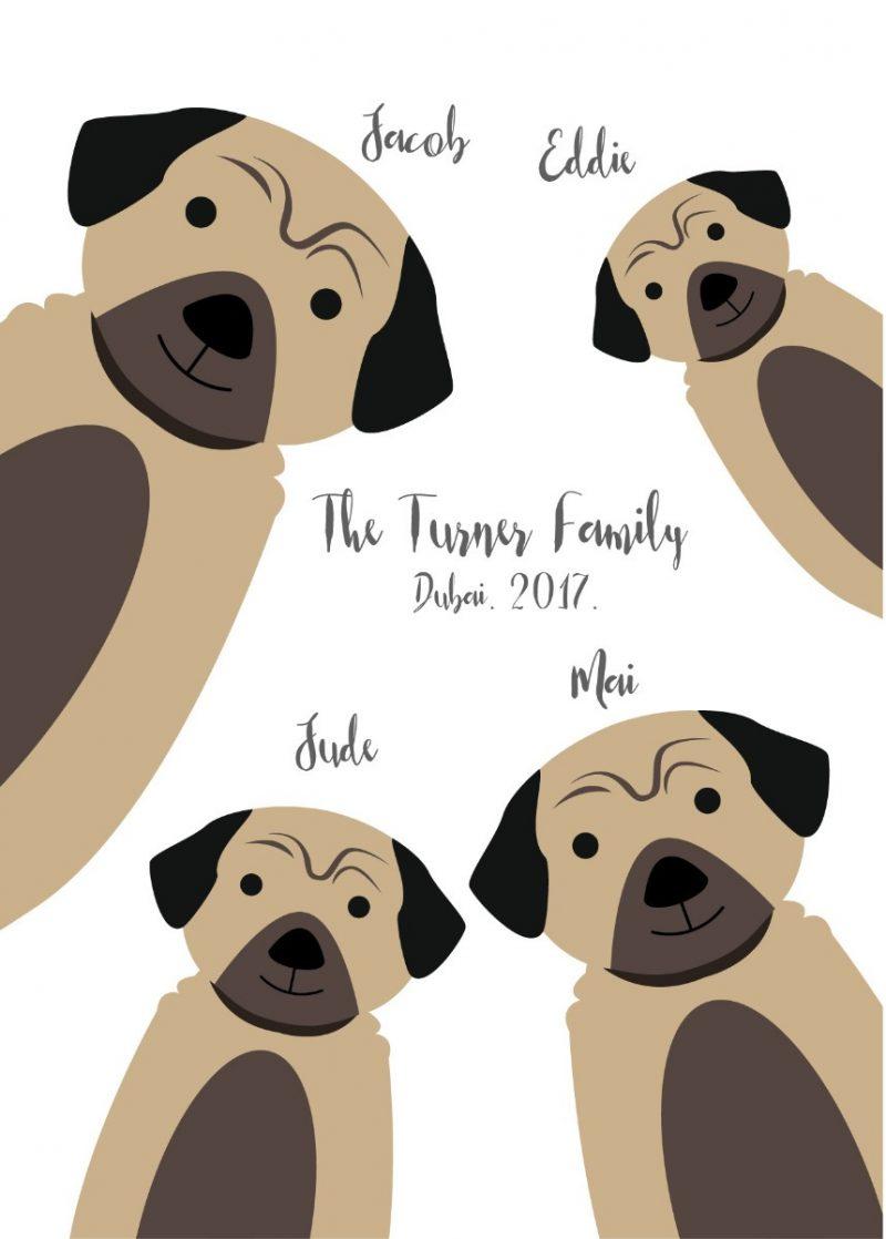 Family & Friends - Dogs 1-Framed A4 print-Black-0