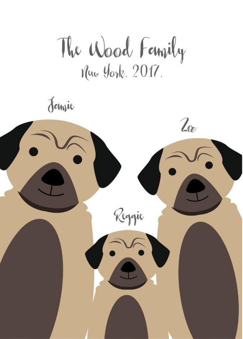 Family & Friends - Dogs 1-Framed A4 print-Black-1531