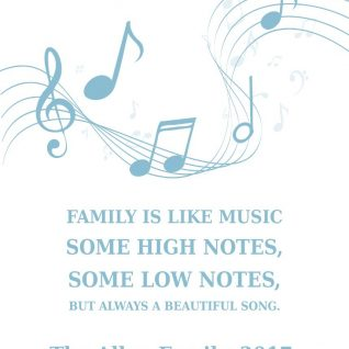 Family & Friends - Musical Notes 1-Framed A3 print -White-0