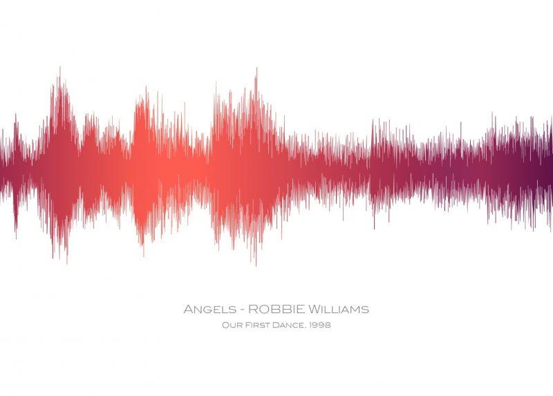 Family & Friends - Sound Waves 1-Black-Framed A3 print-0