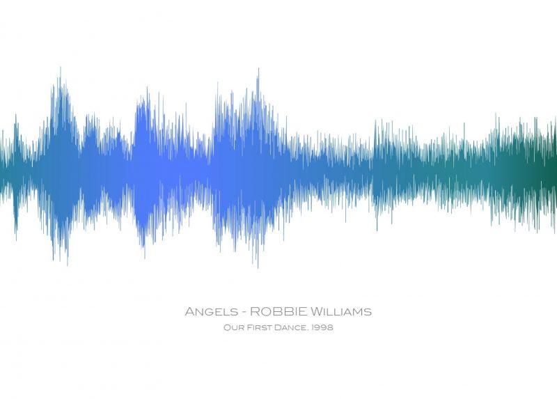 Family & Friends - Sound Waves 1-Black-Framed A3 print-1589