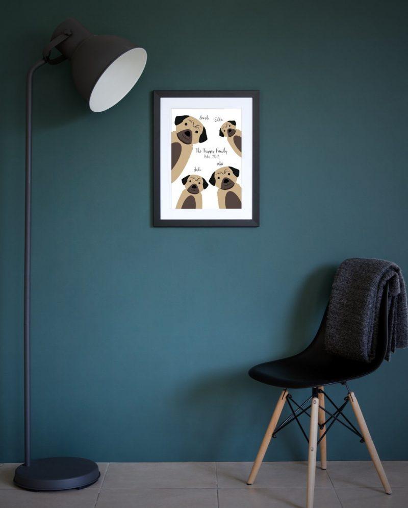 Family & Friends - Dogs 1-Framed A4 print-Black-1532