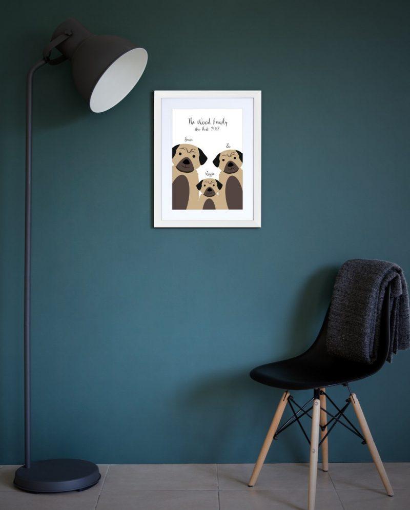 Family & Friends - Dogs 1-Framed A4 print-Black-1533