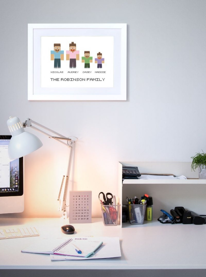 Family & Friends - Pixels 1-Black-Framed A4 print-1573