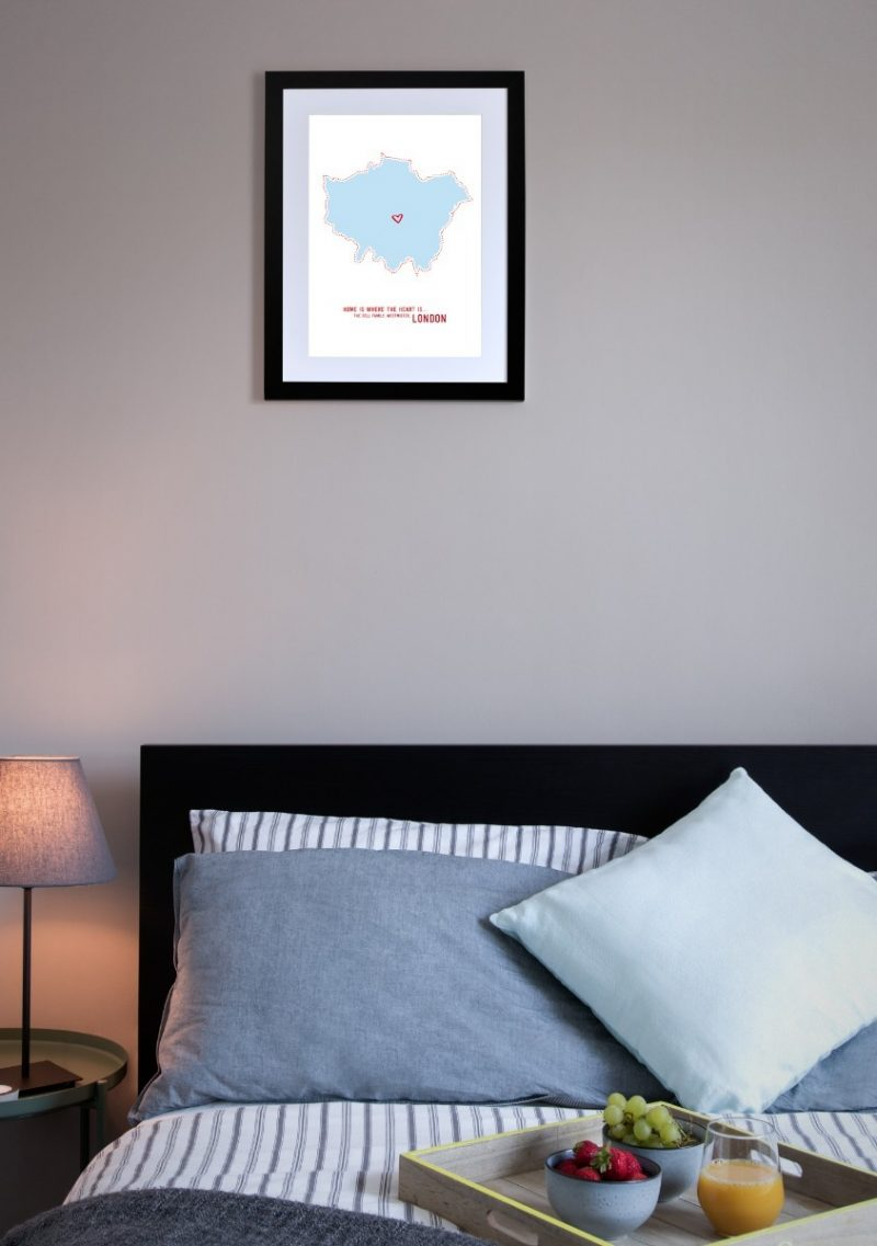 Geography - Home is Where the Heart is 1-Black-Framed A4 print-1646