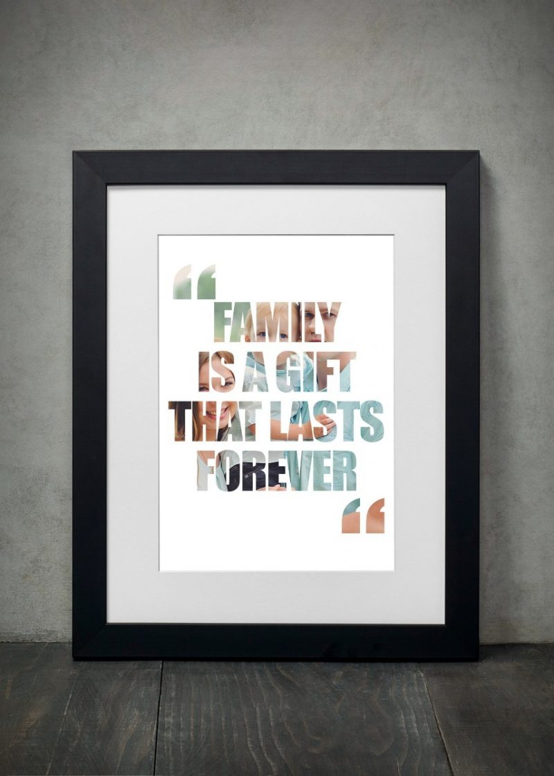 Photo Collage - Qoutes & Words 1-Black-Framed A4 print-0