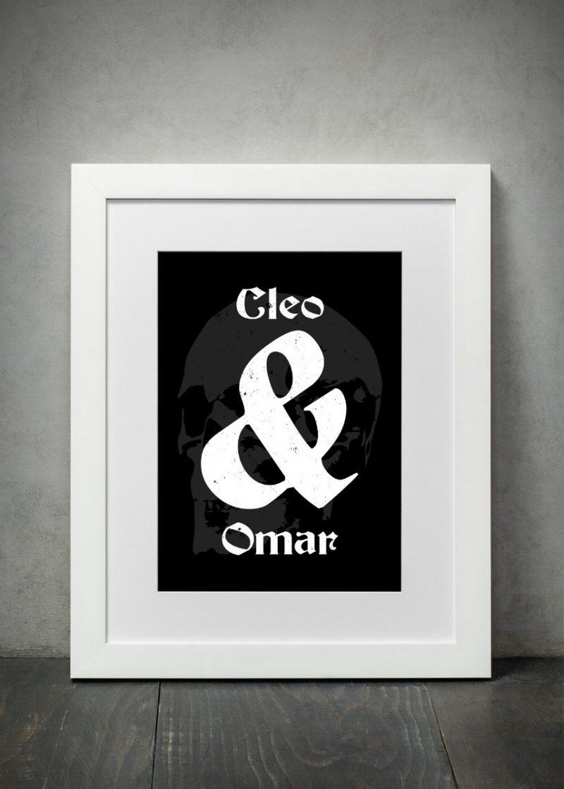 Typography - & 1-Framed A3 print -Black-1719