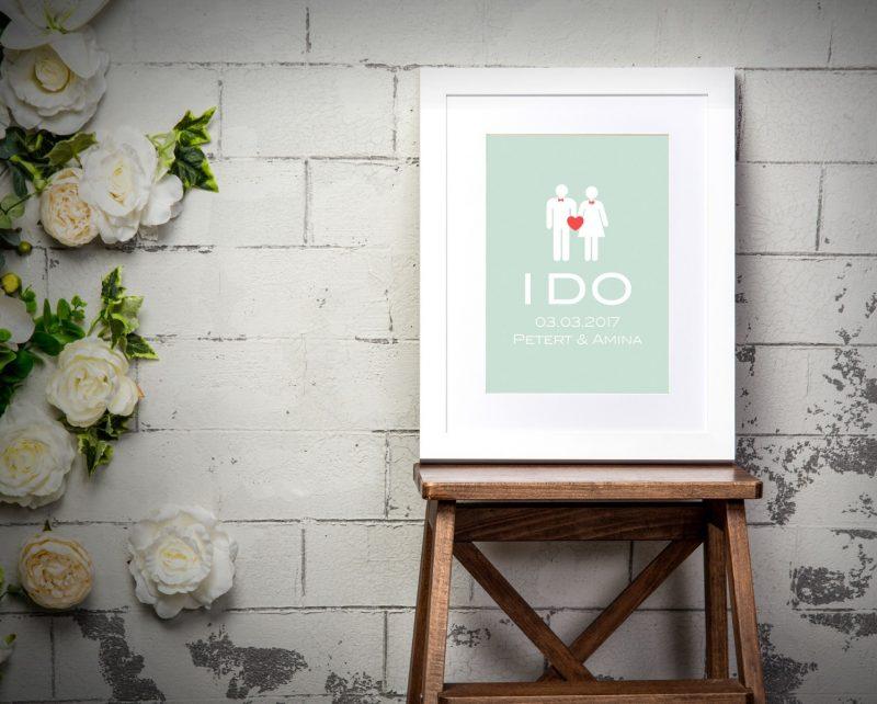 Typography - I Do 1-Framed A3 print -Black-1792