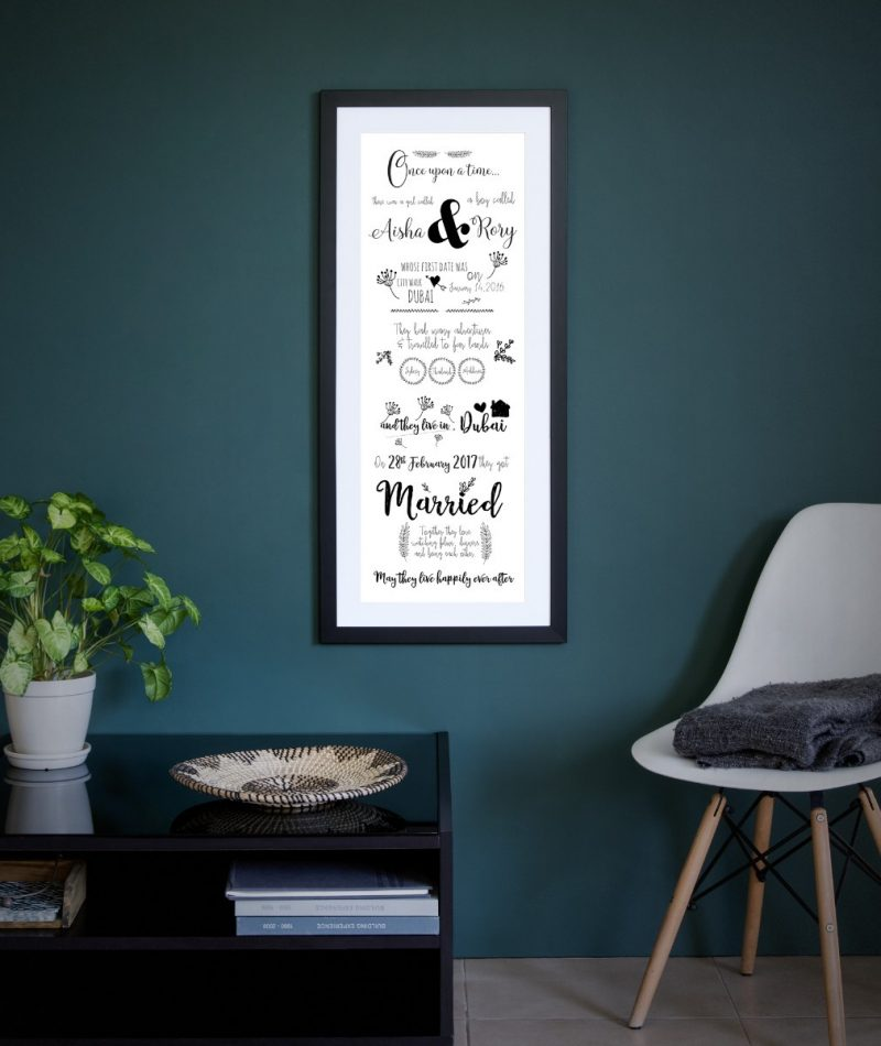 Typography - Marriage 1-Framed A3 print -Black-1795
