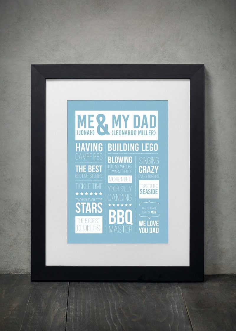 Typography - Me & Love Ones 1-Framed A3 print -Black-0