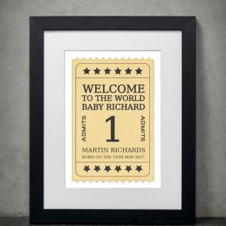 Typography - New Born 2-Framed A3 print -Black-0