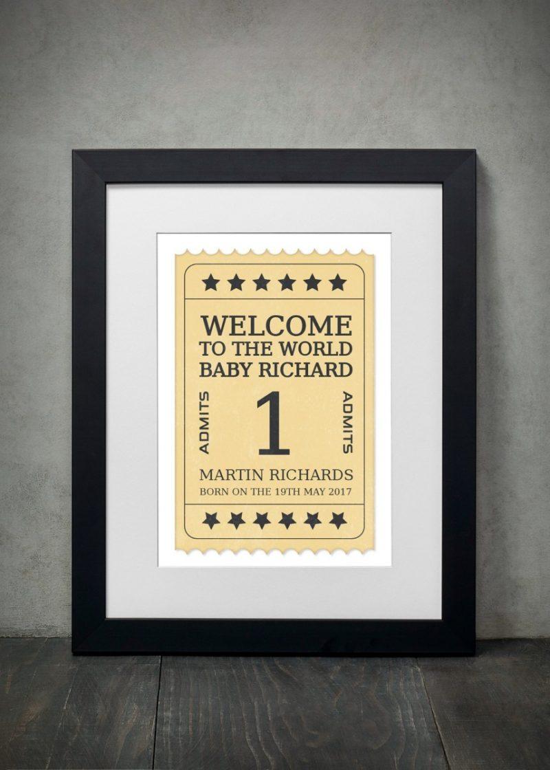 Typography - New Born 2-Framed A3 print -Black-0