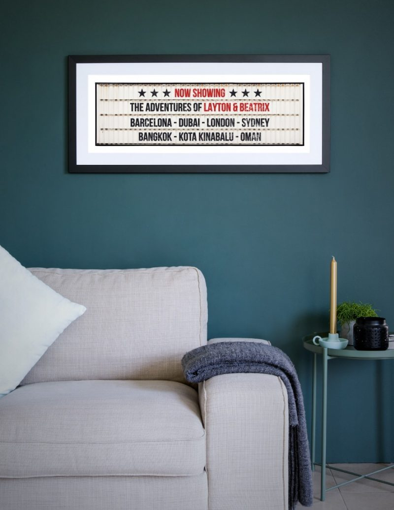 Typography - Now Showing 1-Framed A3 print -Black-1826