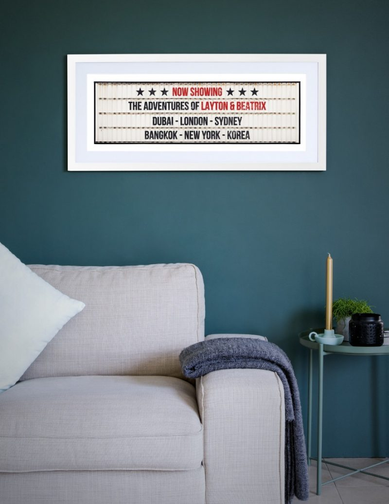 Typography - Now Showing 1-Framed A3 print -Black-1827