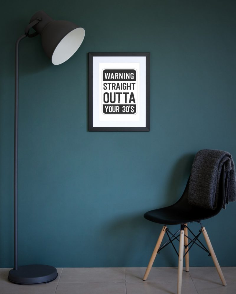Typography - Staright Outta 1-Framed A3 print -Black-1831