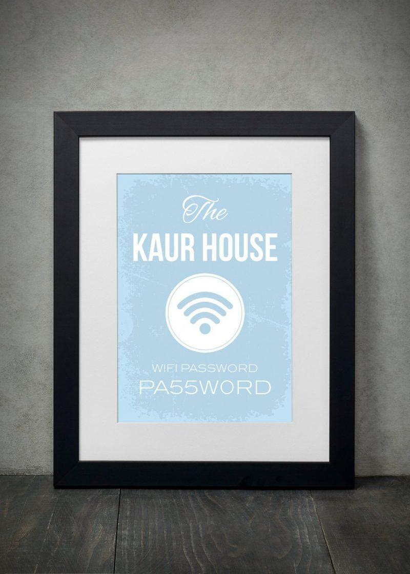 Typography - Wifi 2-Black-Framed A4 print-0