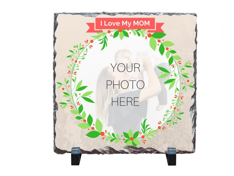 Personalised Print on Stone - I LOVE MY MOM-2550