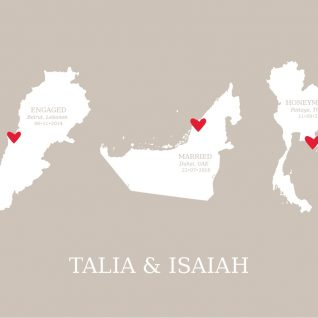 Geography - Couples Dates 1-Framed A3 print -Black-0