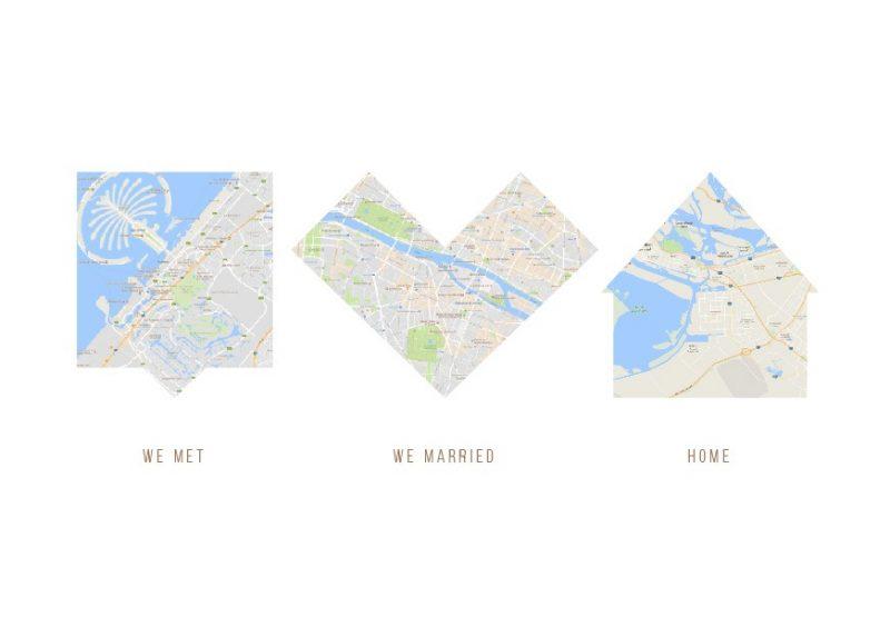 Map based iconic artwork-Black-Framed A3 print-1616