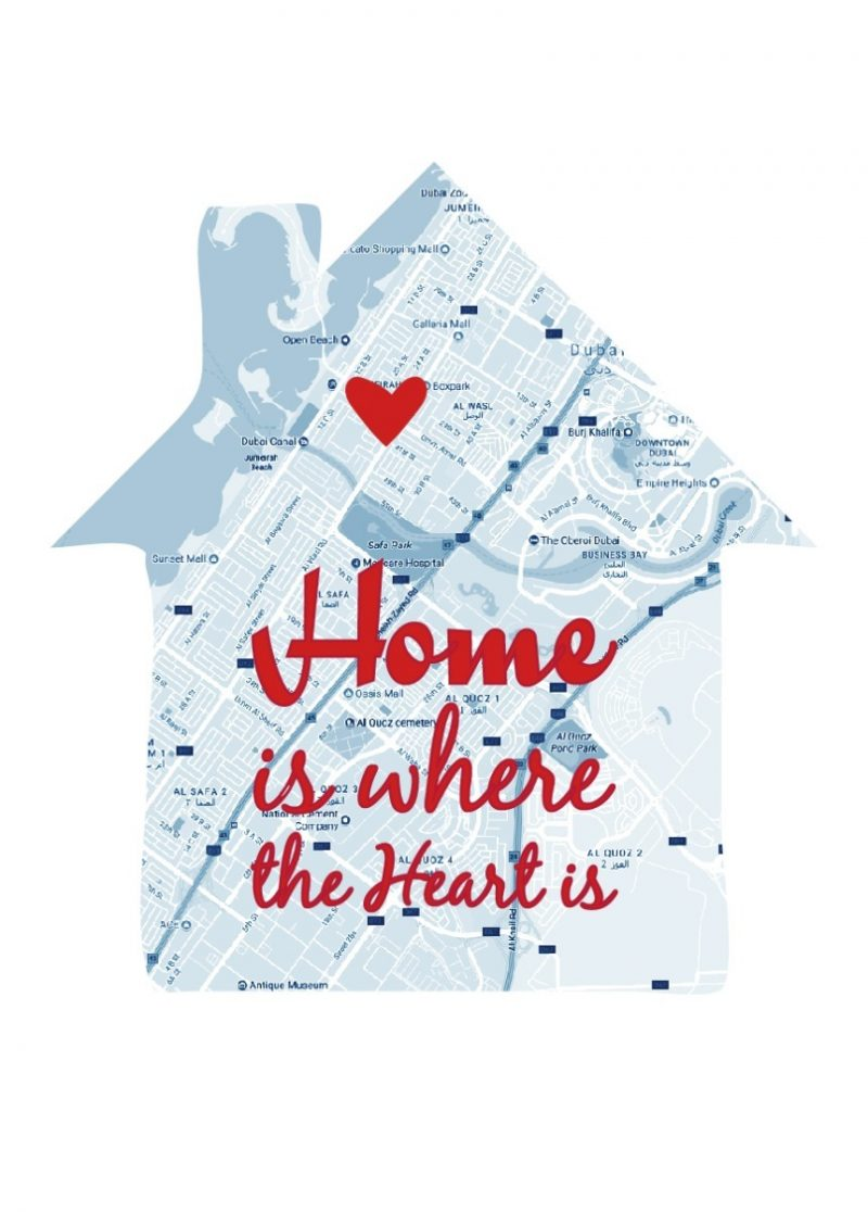 Geography - Home Is Where The Heart 1-Black-Framed A4 print-1643