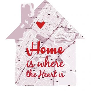 Geography - Home Is Where The Heart 1-Black-Framed A4 print-0