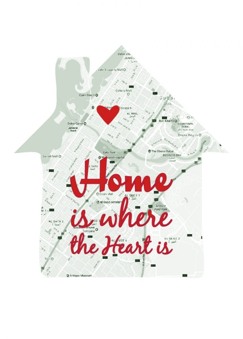Geography - Home Is Where The Heart 1-Black-Framed A4 print-1644