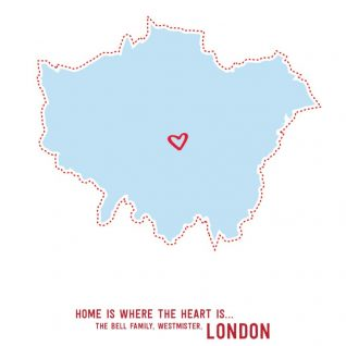 Geography - Home is Where the Heart is 1-Black-Framed A4 print-0