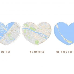 Geography - Map Heart 1-Black-Framed A4 print-0