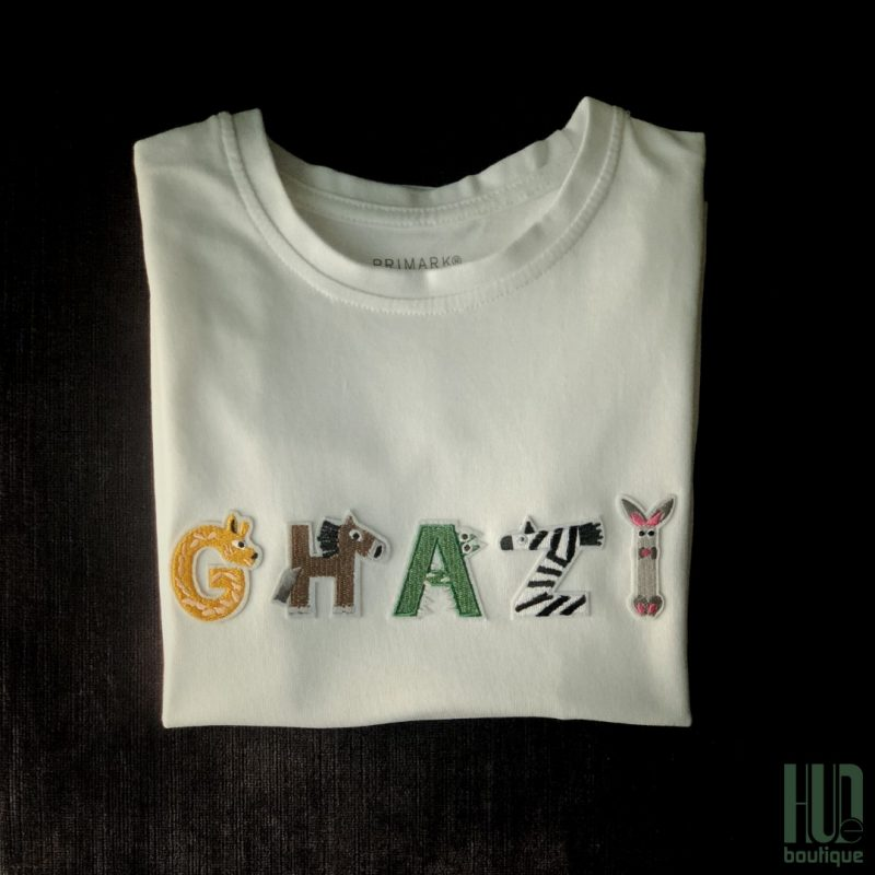 Personalized Boys T-shirt – Custom Embroidered Cotton Patches (1.5 - 7 years old)-2075