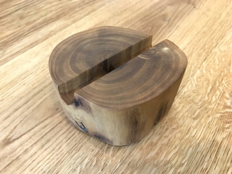 Stack- Set of 3 rustic wooden tea light Candle holders-2025