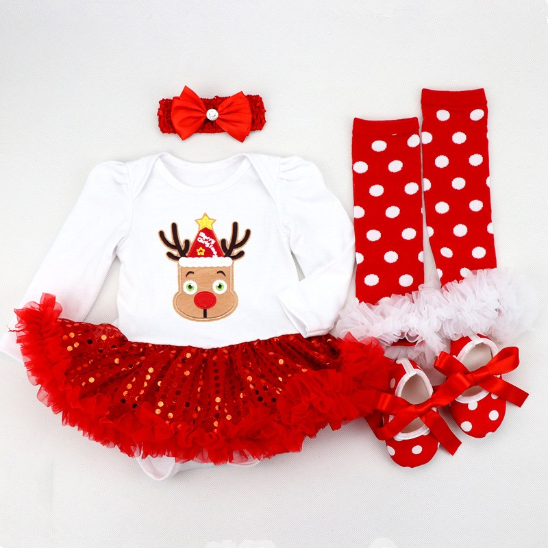 Christmas Reindeer Tutu Costume for Babies and Toddlers-0