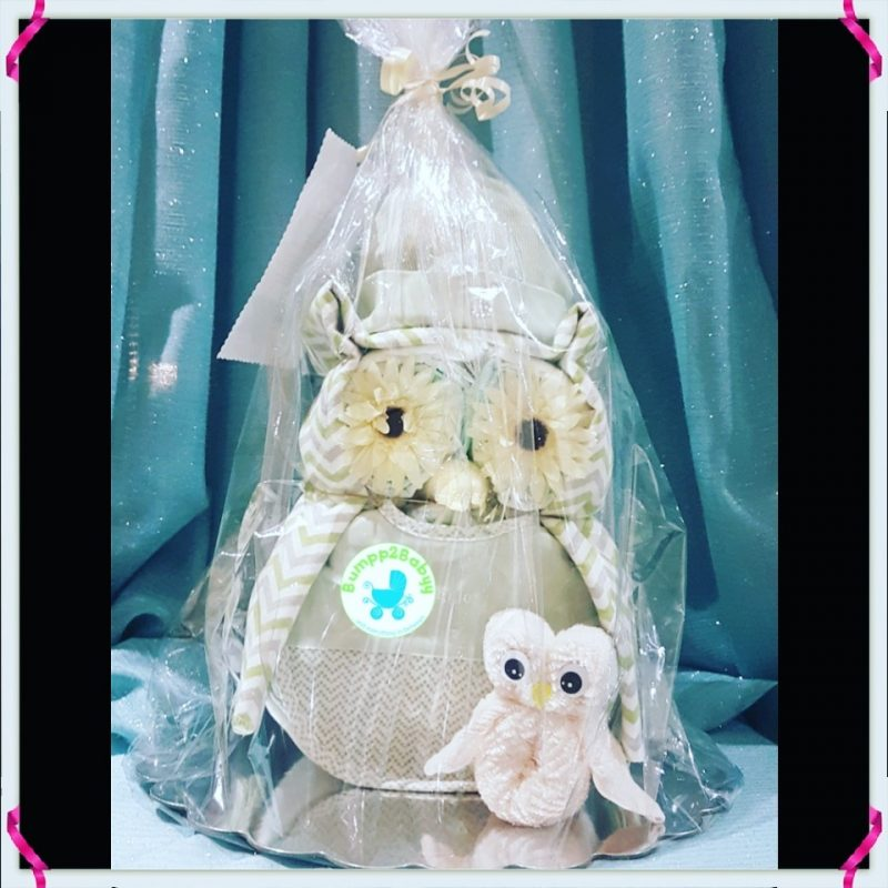 Twit Twwoo…. I Love You Owl nappy / diaper cake (made to order )-2190