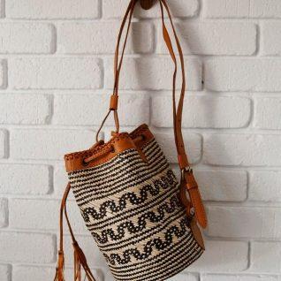 Borneo Rattan Bucket Bag-0