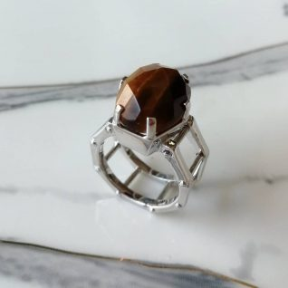 Tiger's Eye Men Ring-0