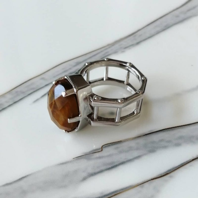 Tiger's Eye Men Ring-3001