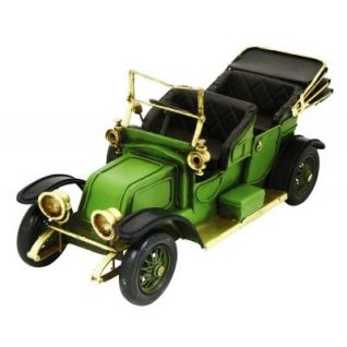 Green Open Top Vintage Car-0
