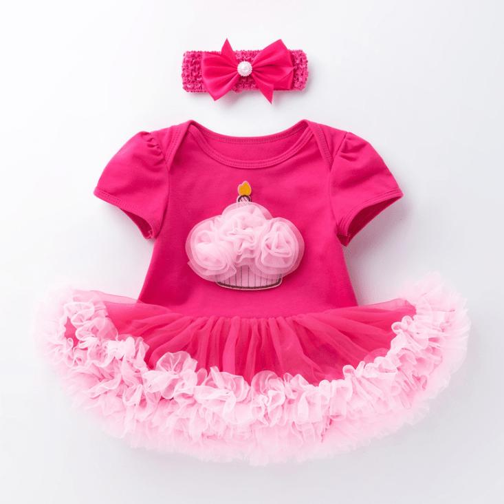Cupcake Birthday Tutu for Baby and Toddler-2909