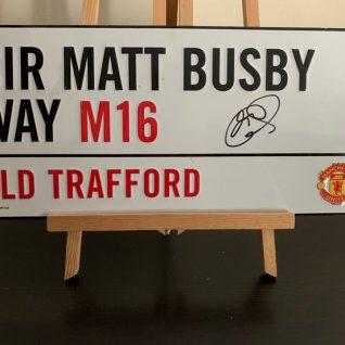 Ole Gunnar Solskar - Old Trafford Street Sign-0