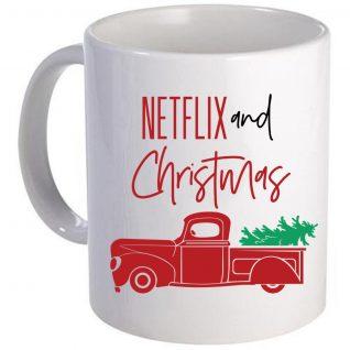 Netflix and Christmas Mug-0