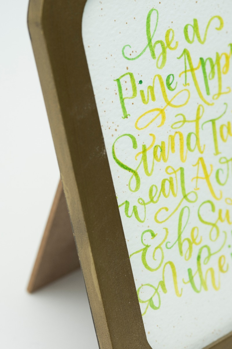 'Stand Tall like a Pineapple' Typography Frame-2302