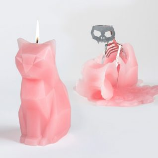Pyropet Kisa Cat Candle – Pink-0