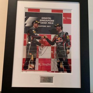 Sebastian Vettel & Mark Webber signed Picture-0
