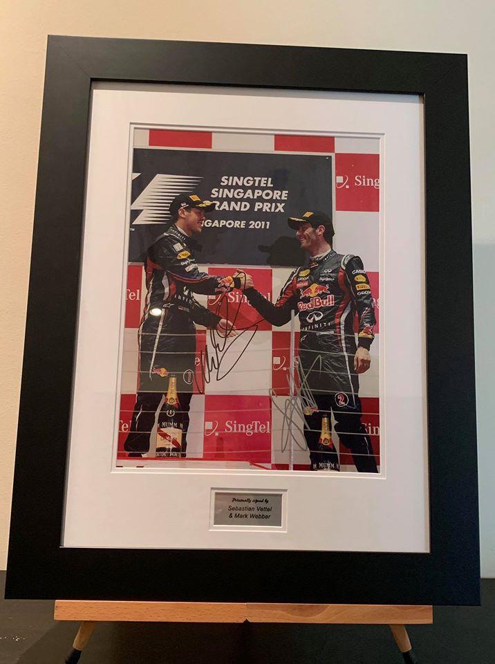 Sebastian Vettel & Mark Webber signed Picture-0