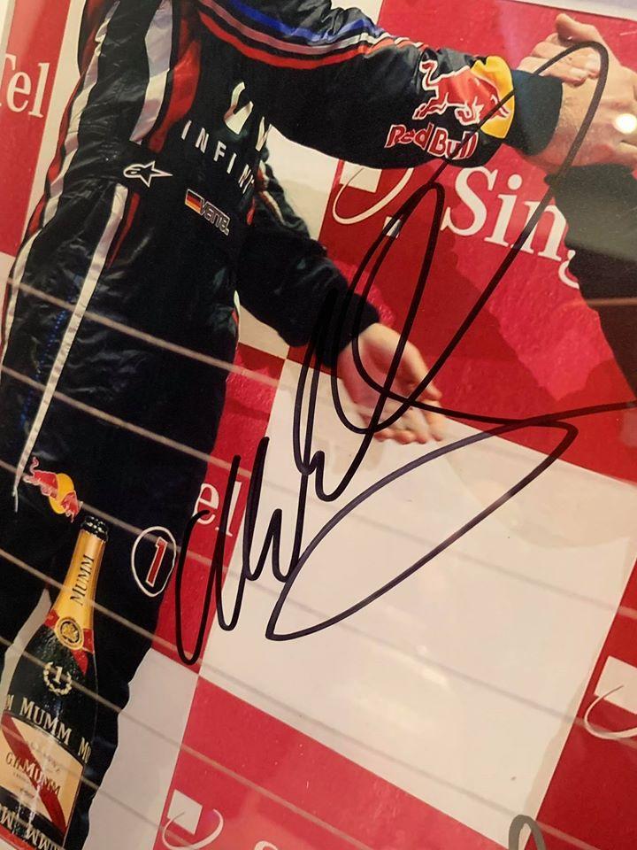 Sebastian Vettel & Mark Webber signed Picture-3073