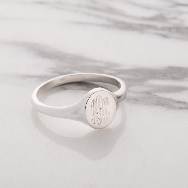 Personalised Monogrammed Signet Ring-1396