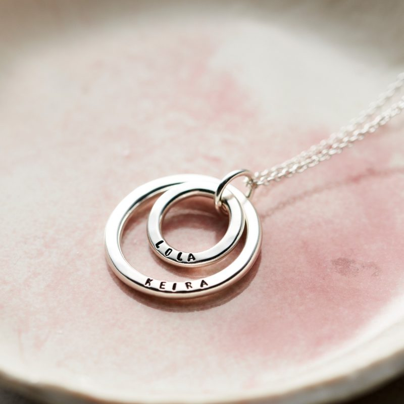 Personalised Mummy And Baby Necklace-1349