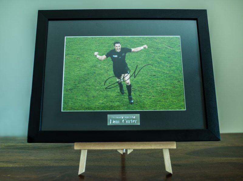 Hand-signed Dan Carter Framed Print (Rugby)-0